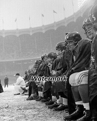 £4.95 • Buy NFL 1958 New York Giants On The Bench Yankee Stadium 8 X 10 Photo Pictures