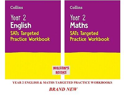 Ks1 Year 2 Targeted Maths & English Practice Workbooks For Ages 6-7 (2 Books) • 11.85£