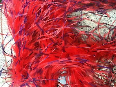 £6.55 • Buy 27g Fluffy Marabou Boa With Ostrich Feather Accent Two Tone Boas 2 Yards 6 Feet
