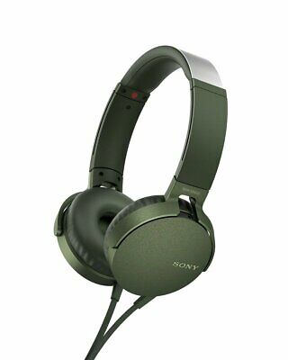 AU113.46 • Buy SONY Folding Type Headphonel MDR-XB550AP Green Heavy Bass New In Box