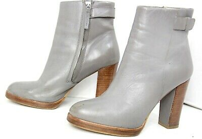 Womens Zara Gray Grey Ankle Leather Boots EUR 37 7.5 • 18$