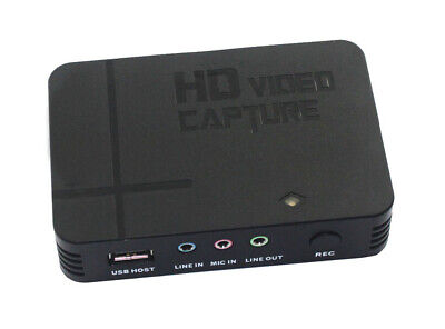 1080P HD PVR Game Video Capture HDMI/YPBPR Recorder For Xbox 360 One Live PS4 • 59.38£