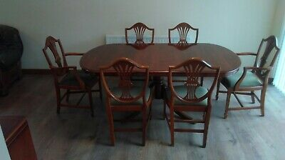 Bradley Yew Extending Dining Table And 6 Chairs. • 495£