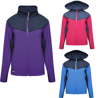 Womens Soft Shell Fleece Lined Ladies Hooded Windproof Breathable Work Jackets • 21.95£