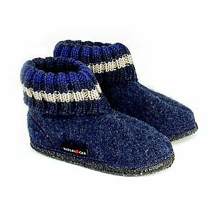 Haflinger Children's Slipper Boot Paul - Jeans Blue • 16.50£