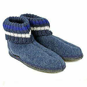 Haflinger Slipper Boot Paul - Jeans Blue • 39.50£