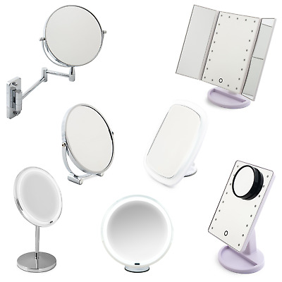£9.99 • Buy Make Up Mirror Cosmetic Mirror With Lights. LED Shaving Vanity Mirror Table Top