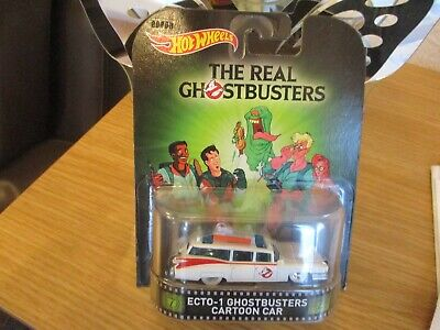 Hotwheels 2015 Ecto 1 Ghostbusters Cartoon Car Alloys Real Rider Rubber Tyres  • 9.99£
