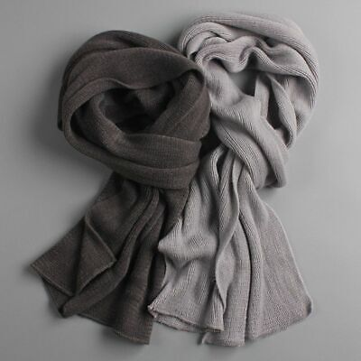 $14.62 • Buy Scarf Knitted Cashmere Winter Adult Neck Accessories Solid Colored Thick Scarves