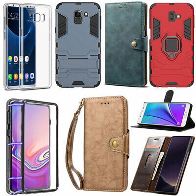 $ CDN9.68 • Buy For Samsung S6 S7 Edge S8 S9 S10 Leather Flip Wallet Armor Kickstand Case Cover