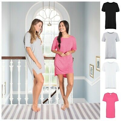 Womens Ladies Nighty Nightie Nightwear Night Shirt T-Shirt Boyfriend Tee Top • 11.25£