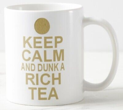 £5.99 • Buy KEEP CALM AND DUNK A RICH TEA Gift MUG Biscuit Digestive Biscuits Carry On Mugs