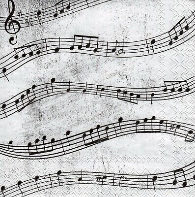£1.30 • Buy 5 X PAPER NAPKINS For Decoupage MUSIC NOTES - SMALL COCKTAIL SIZE