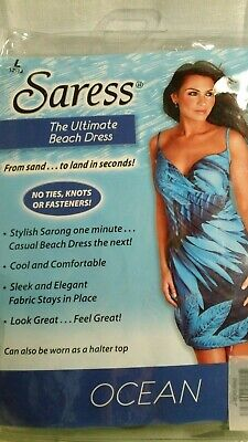 £11.58 • Buy Saress Womens Size L The Ultimate Beach Dress Blue NEW