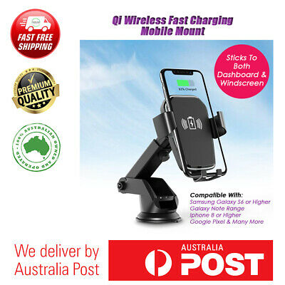 AU24.99 • Buy K81 Car Wireless Charger 10W Fast Charging Suction Cup Mobile Phone Holder Mount