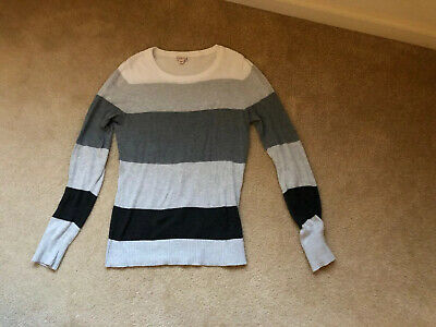 $10 • Buy Women's Merona Gray Striped Sweater Size Medium