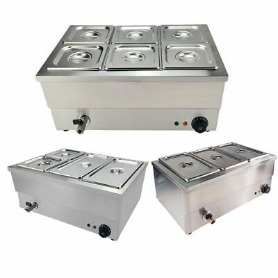 £155 • Buy 3/4/6 Pots Bain Marie Commercial Wet Well Heat Electric Food Warmer Pan Catering