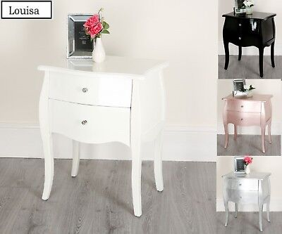 Antique Look French Bedside 2 Or 3 Drawers Chest Table Shabby Chic Bedroom • 59.99£