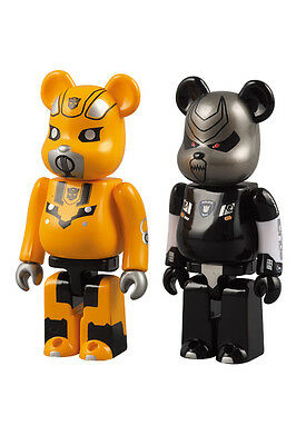 $95.88 • Buy Medicom Transformers BUMBLEBEE & BARRICADE 100% Be@brick Bearbrick 2pc Set