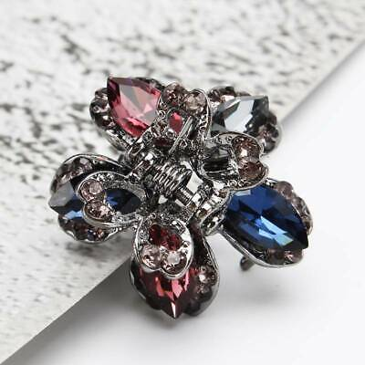 Women Butterfly Flower Small Hair Clips Claw Rhinestone Crystal Sparkly Clip 6A • 2.28£