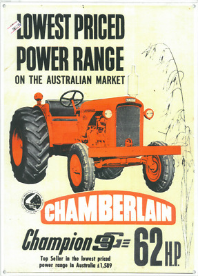AU29.50 • Buy Chamberlain Champion 9G Metal Reprod Sign (WAR296)