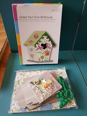 Make Your Own Birdhouse Childrens Card Paper Craft Kit ~ Birdhouse Kit New • 2.89£
