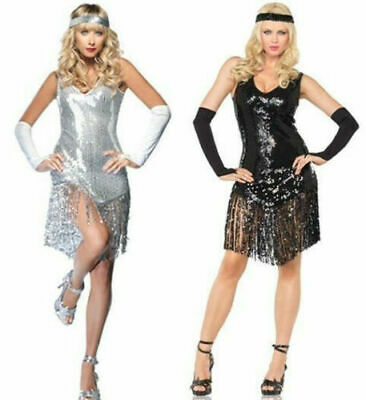 £8.49 • Buy Sexy Ladies Flapper Dress Outfit Costume Charleston Gatsby Fancy Dress Womens