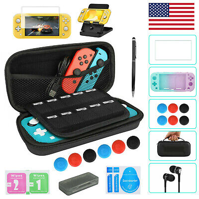For Nintendo Switch Lite Carrying Case Bag+Shell Cover+Glass Screen Protector • 8.57$