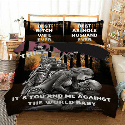 Gothic Skull Duvet Cover With Pillow Cases Bedding Set Single Double King Sizes • 28.99£