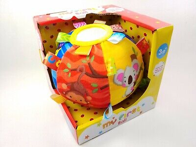 Baby My First Soft Ball Comes With Tags, Mirror & Rattle 3 Months+ • 11.20£