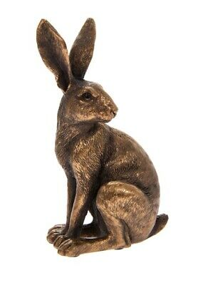£11.99 • Buy Reflections Bronzed Sitting Hare Ornament Figure Gift Boxed Present Wildlife