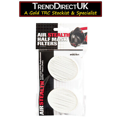 PAIR OF Trend AIR STEALTH SAFETY RESPIRATOR MASK P3 FILTERS STEALTH/1 • 11.80£