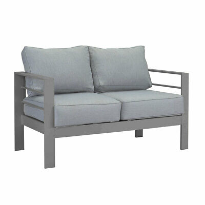AU369.99 • Buy New Charcoal Two Seater Aluminium Outdoor Sofa Lounge Setting Furniture Chairs