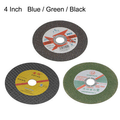 AU11.34 • Buy 4 Inch Cut-Off Wheels Cutting Discs For Metal Stainless Steel Blue/Green/Black
