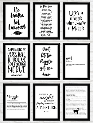 £3.99 • Buy 20 Harry Potter Quote Prints Poster Inspirational Gift Movie Film Home Decor
