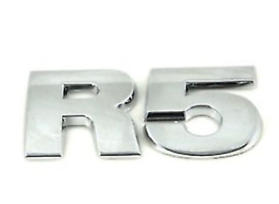 Genuine  Vw Touareg 03-10 Rear Trunk R5 Chrome Lettering Badge Emblem • 21.24£
