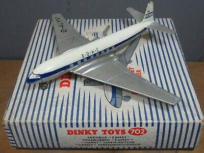 DINKY TOYS MODEL No.702 DH   COMET  JET AIRLINER  VN MIB  • 95£