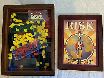 $21.79 • Buy Risk Bookshelf Game In Wood Box - Parker Brothers Vintage Game Collection 2009