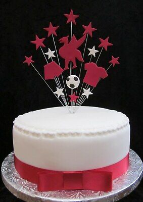 Liverpool Football Birthday Cake Topper  Plus 1 Metre Of Cake Ribbon & Bow • 11.99£