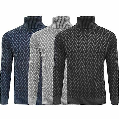 Mens Knitted Roll Turtle Neck Pullover Jumper Tops Wool Warm Slim Fit Sweater • 11.99£
