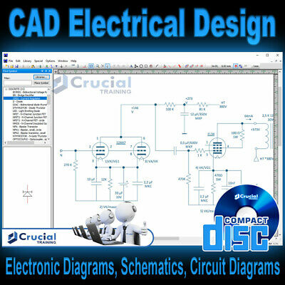 CAD Electrical Software, Design & Draw Electrical Circuit Diagrams, Windows CD • 18.23£