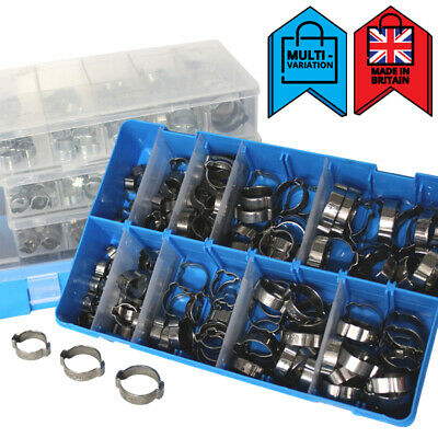 £10 • Buy Double Ear Clamps O Clips Mikalor Water Fuel Air Hose Pipe | Assortment Boxes