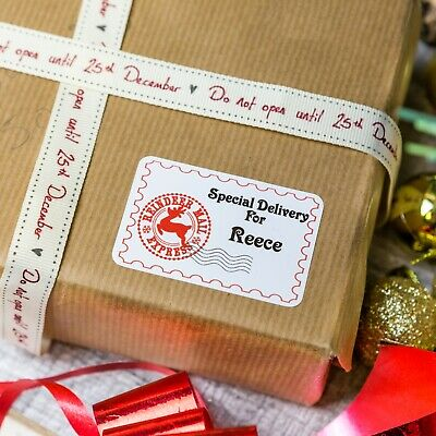Personalised Christmas Stickers Special Delivery From Santa Present Gift Labels! • 1.94£