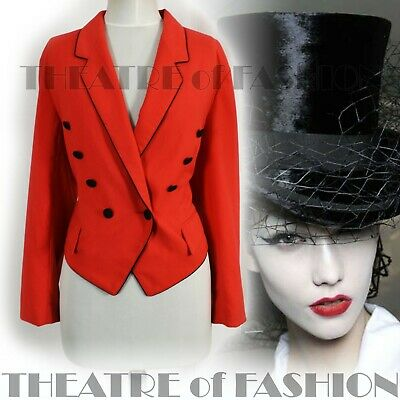 JACKET COAT VINTAGE RIDING 14 16 18 RED VICTORIAN MISTRESS 40s 30s CIRCUS VAMP • 245£