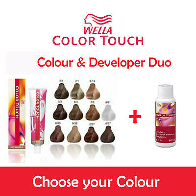 Wella Color Touch Colour Touch & Peroxide Duo Set - Full Range Of Colours - UK • 15.99£