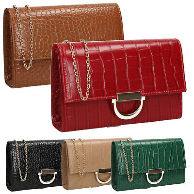 Beverly Croc Effect Smart Party Evening Party Casual Clutch Bag  • 15.99£