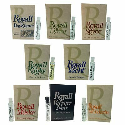 $27.36 • Buy Royall Aftershave Lotion Cologne For Men (8 Pack Sampler)
