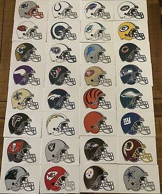 $1.29 • Buy NFL Logo Helmet Football Decal Stickers Choose Your Team