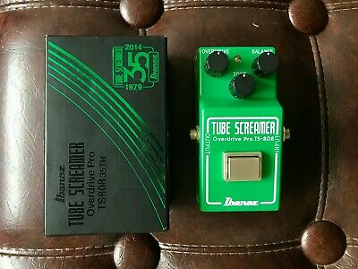 Ibanez TS808 Tube Screamer Overdrive Pro 35th Anniversary Electric Guitar Pedal • 435.66$