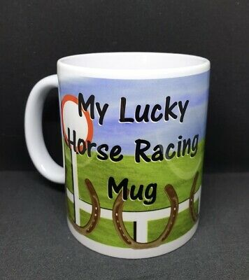 £6 • Buy My Lucky Horse Racing 11oz Mug. Dishwasher Safe- Great Gift For Horse Lovers